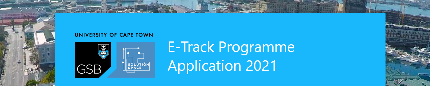 E-Track Programme Application 2021 UCT